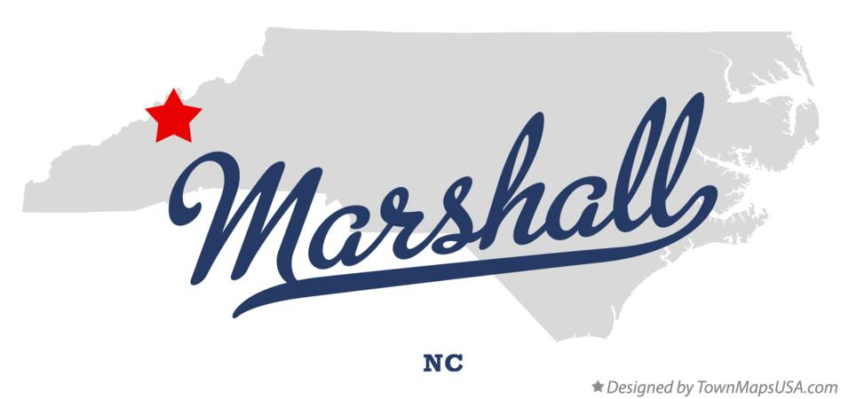 Map of Marshall North Carolina NC