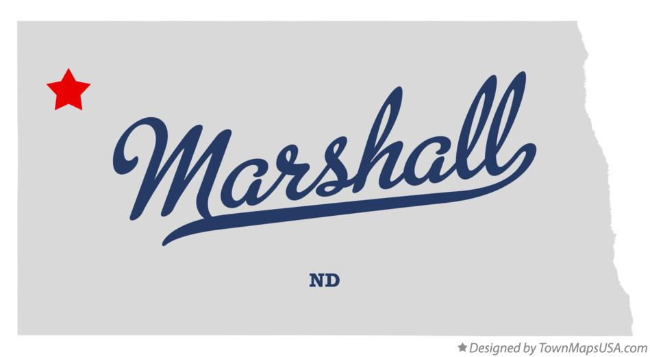 Map of Marshall North Dakota ND