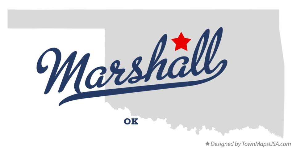 Map of Marshall Oklahoma OK