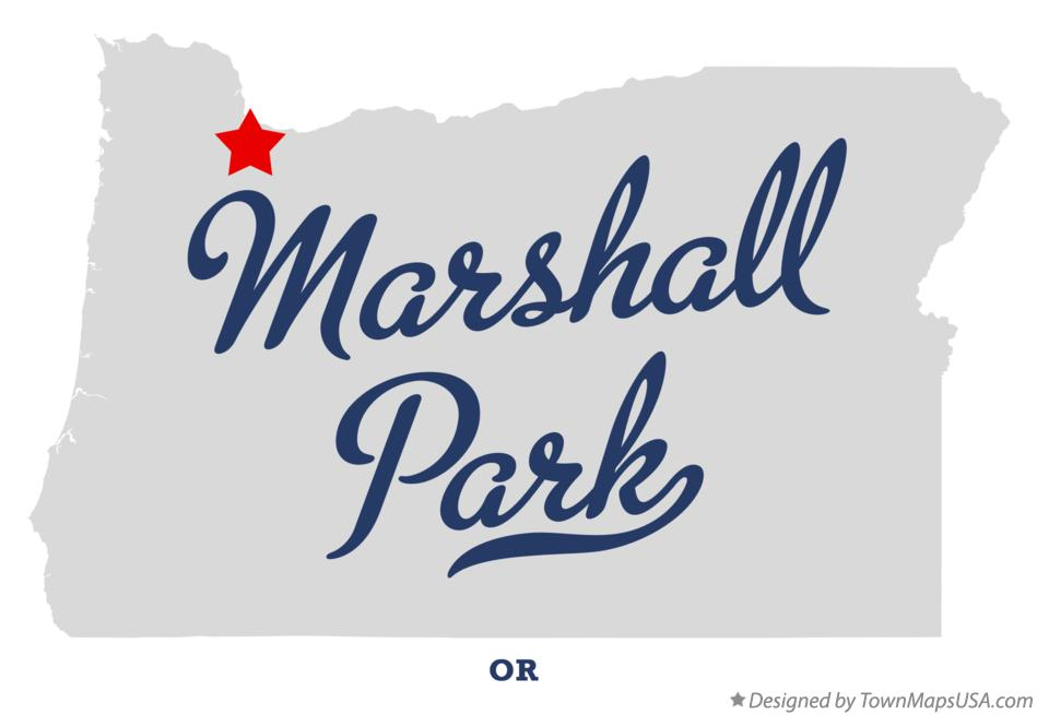 Map of Marshall Park Oregon OR