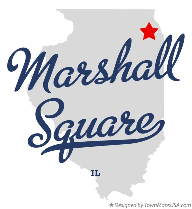 Map of Marshall Square Illinois IL