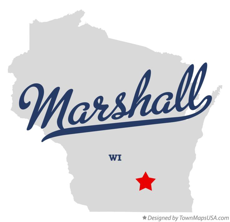Map of Marshall Wisconsin WI