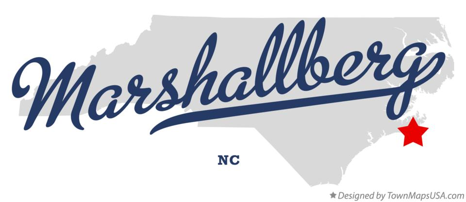 Map of Marshallberg North Carolina NC