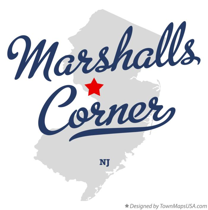 Map of Marshalls Corner New Jersey NJ
