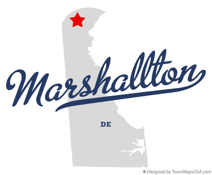Map of Marshallton Delaware DE