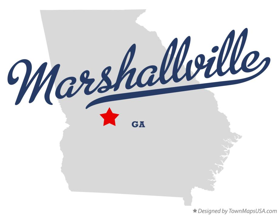 Map of Marshallville Georgia GA