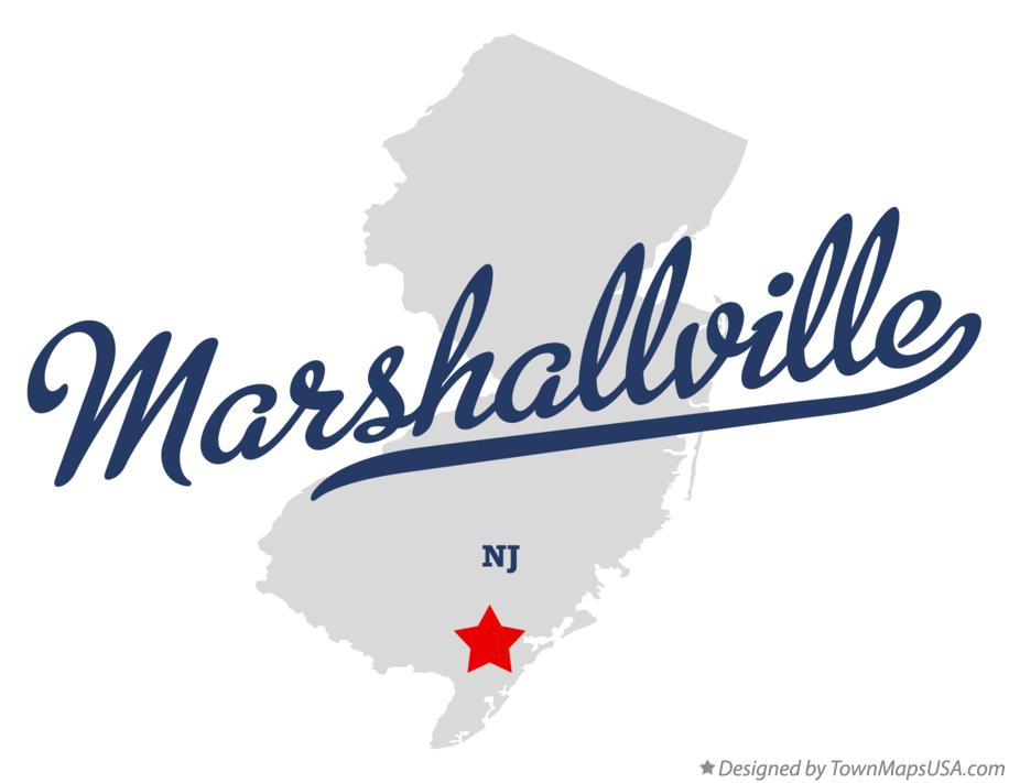 Map of Marshallville New Jersey NJ