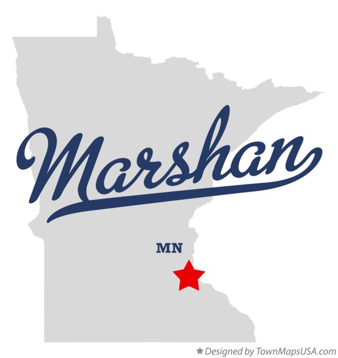 Map of Marshan Minnesota MN