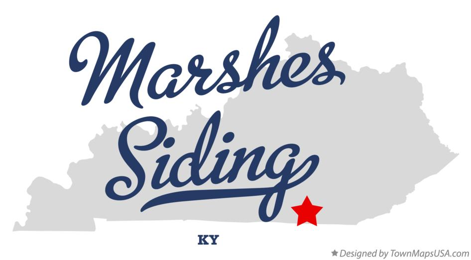 Map of Marshes Siding Kentucky KY
