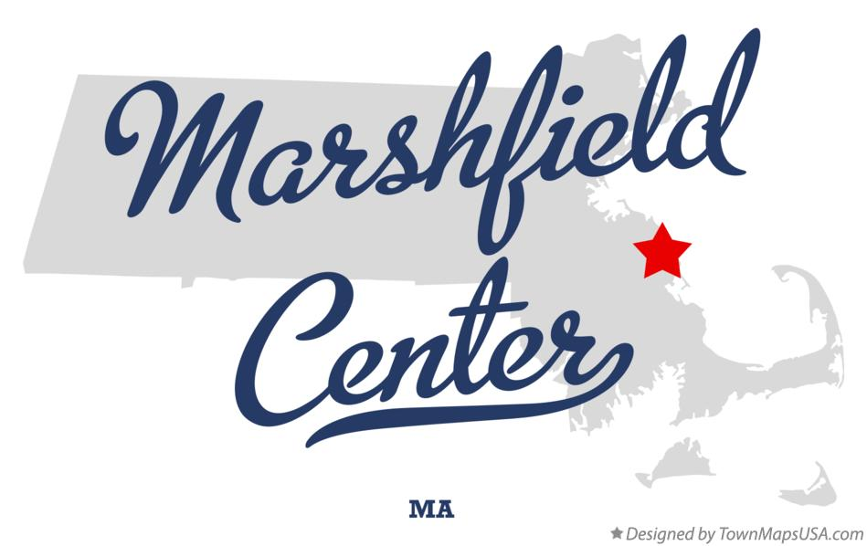 Map of Marshfield Center Massachusetts MA