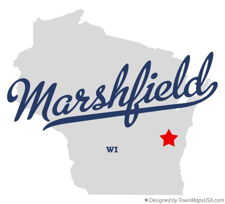 Map of Marshfield Wisconsin WI