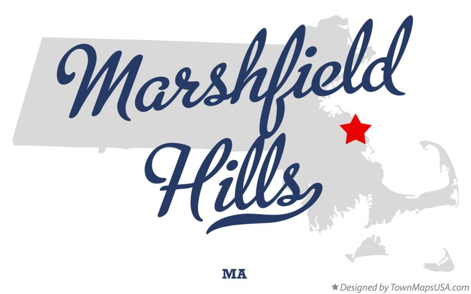Map of Marshfield Hills Massachusetts MA