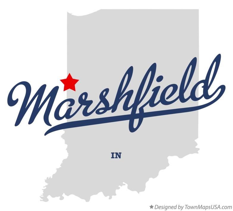 Map of Marshfield Indiana IN