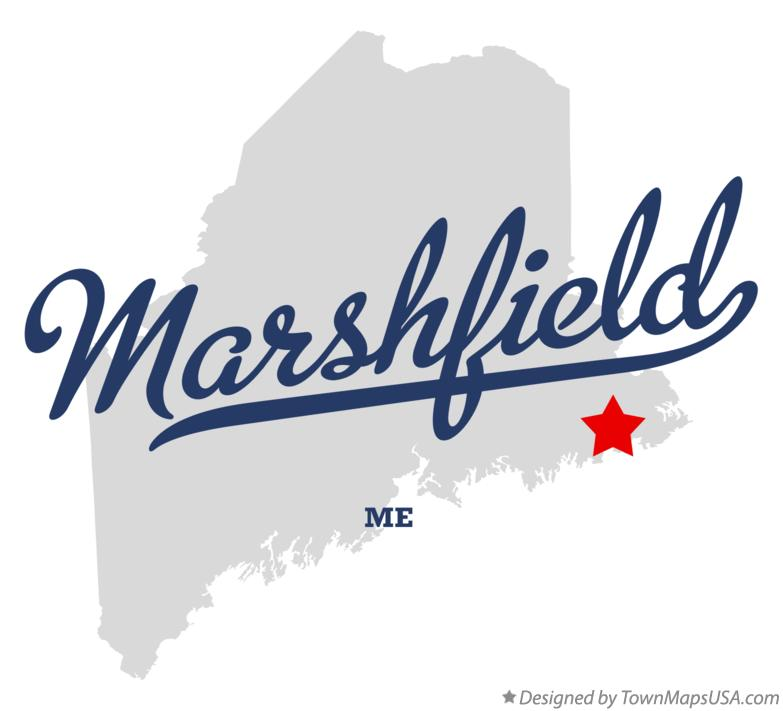 Map of Marshfield Maine ME