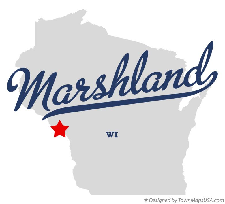 Map of Marshland Wisconsin WI