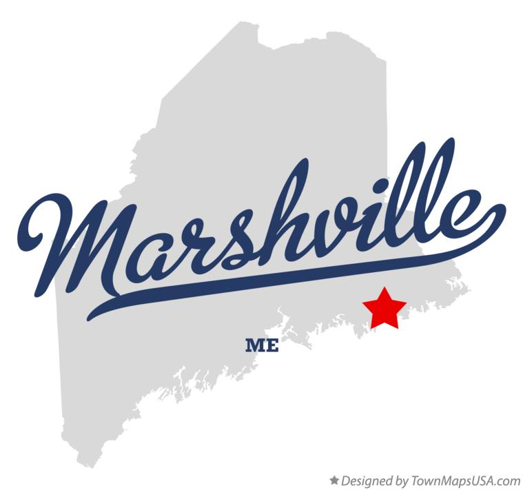Map of Marshville Maine ME