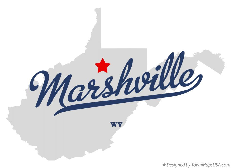 Map of Marshville West Virginia WV