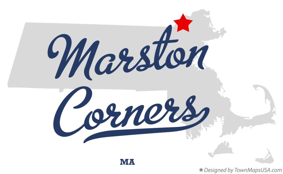 Map of Marston Corners Massachusetts MA