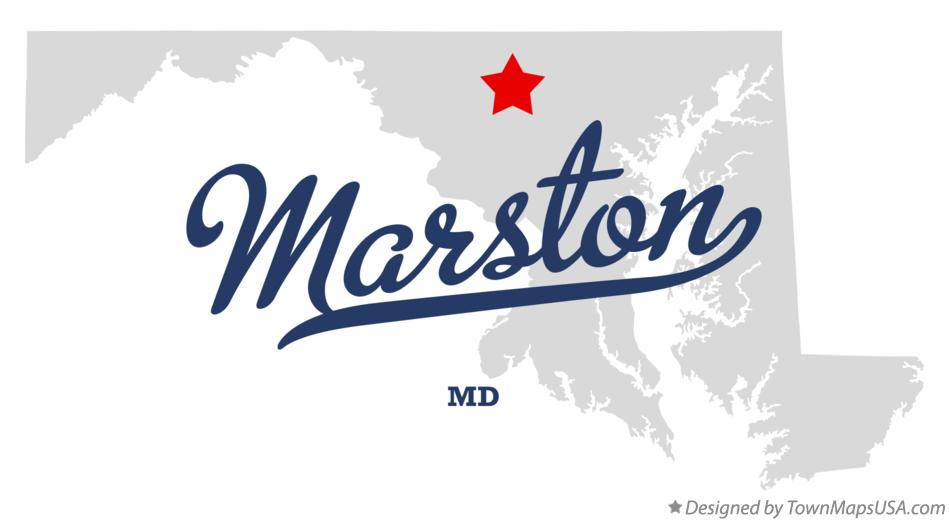 Map of Marston Maryland MD