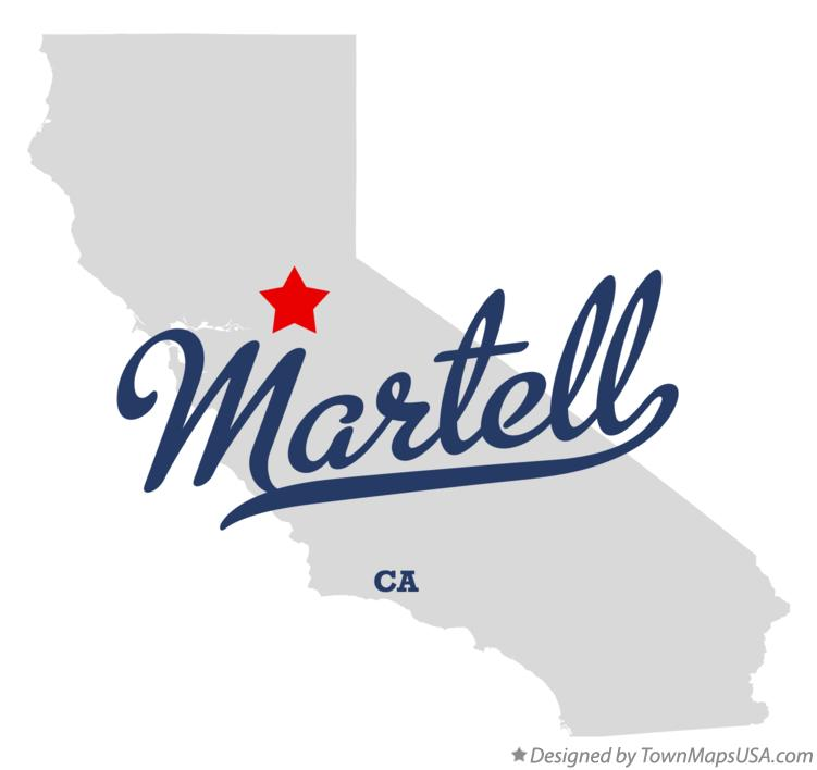 Map of Martell California CA