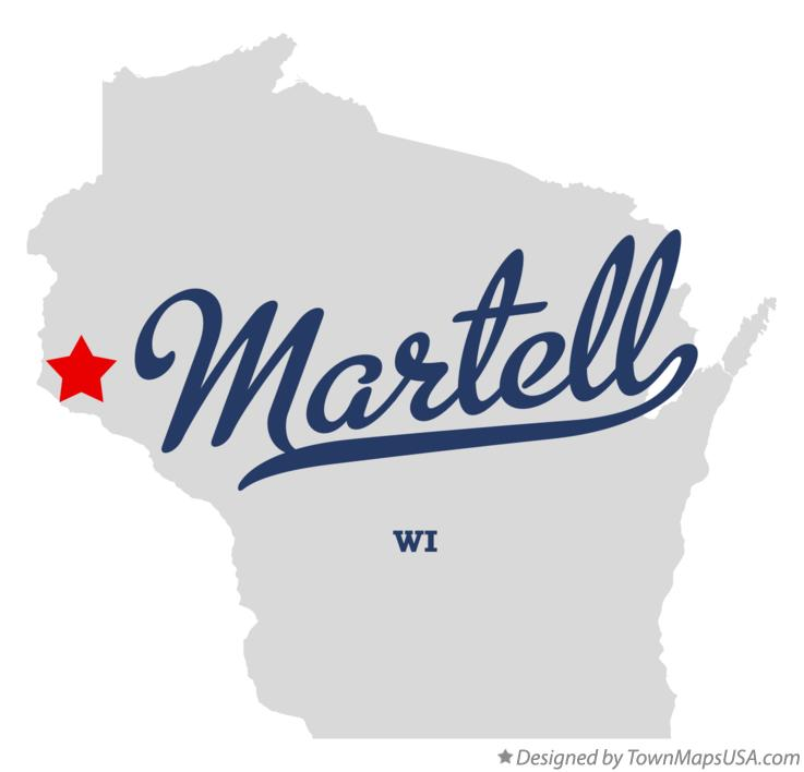 Map of Martell Wisconsin WI