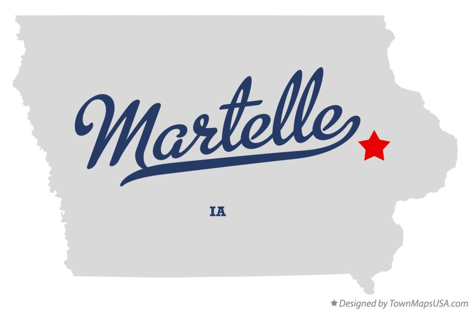 Map of Martelle Iowa IA