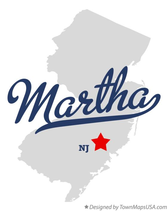 Map of Martha New Jersey NJ
