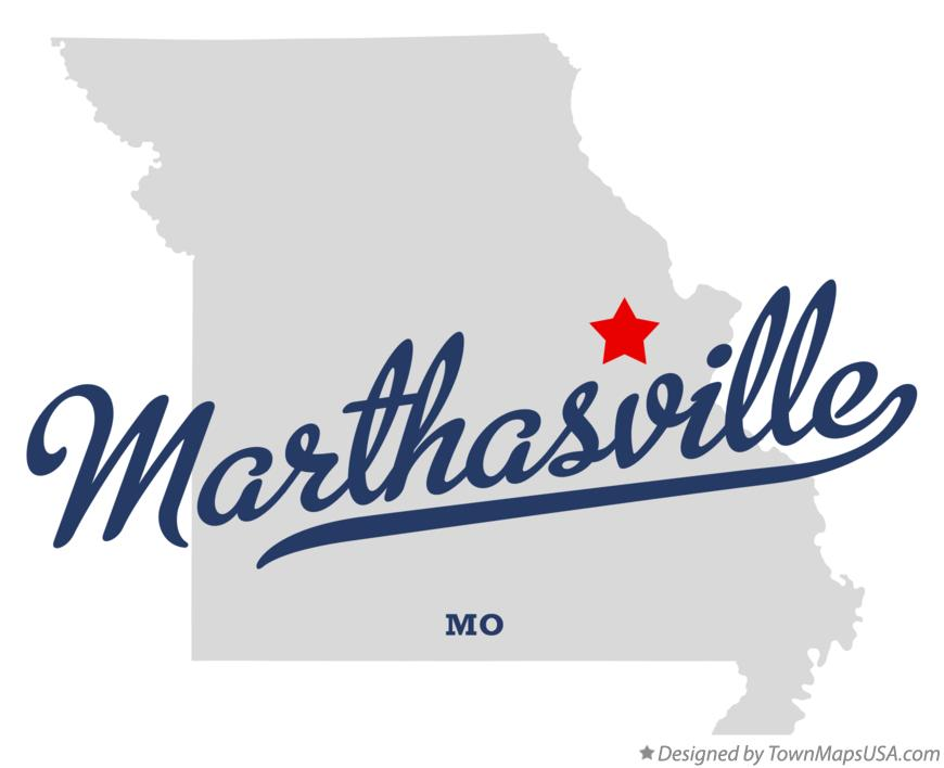 Map of Marthasville Missouri MO
