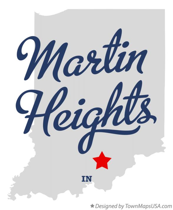 Map of Martin Heights Indiana IN