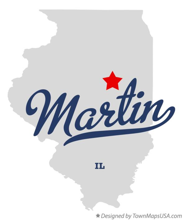 Map of Martin Illinois IL