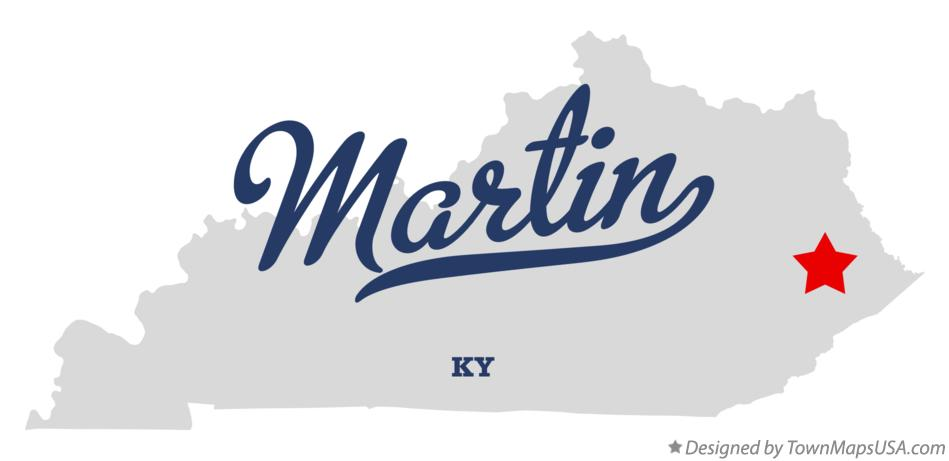 Map of Martin Kentucky KY