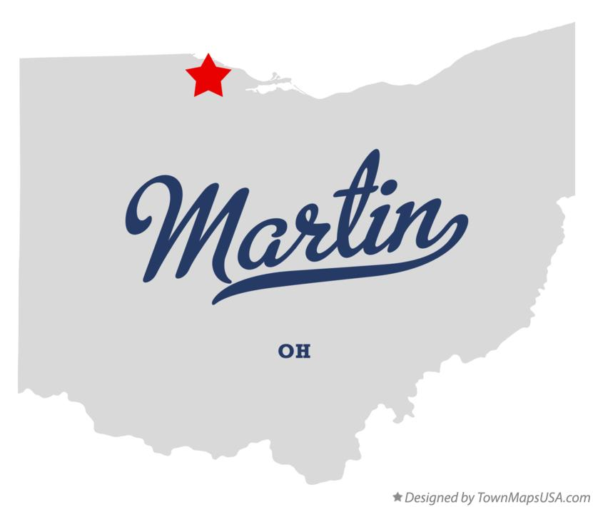 Map of Martin Ohio OH