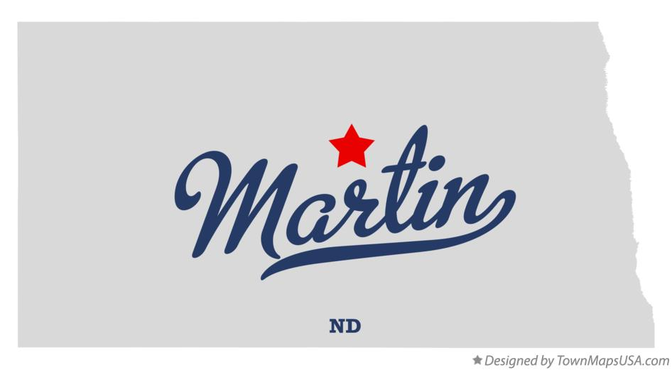 Map of Martin North Dakota ND