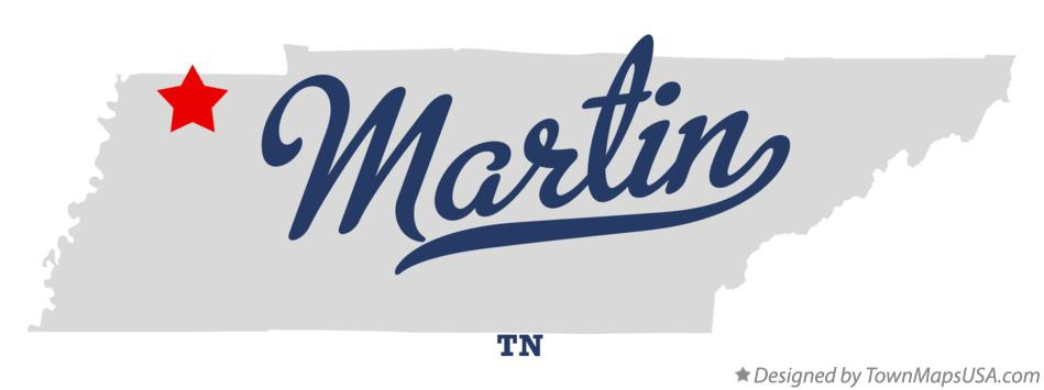 Martin (TN) United States  City new picture : Map of Martin, TN, Tennessee