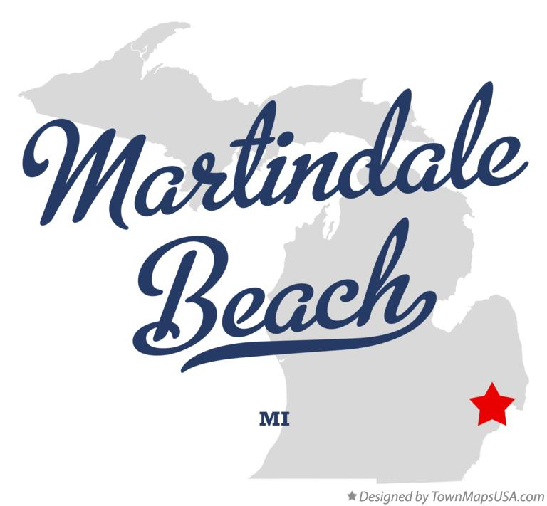 Map of Martindale Beach Michigan MI