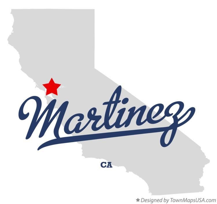 Map Of Martinez Contra Costa County Ca California