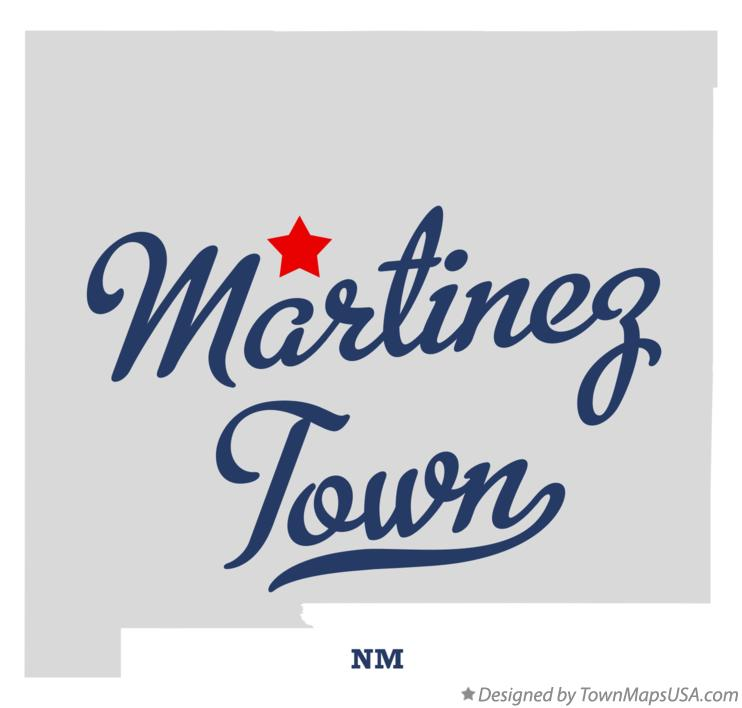 Map of Martinez Town New Mexico NM