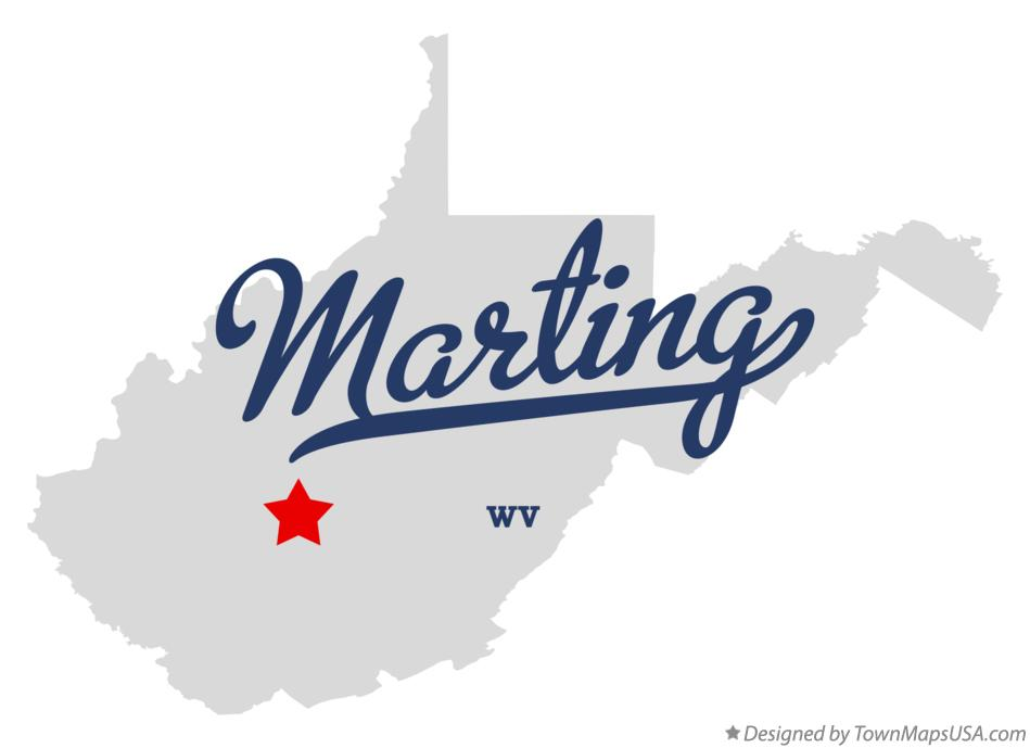 Map of Marting West Virginia WV