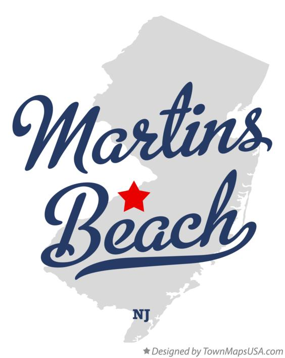 Map of Martins Beach New Jersey NJ