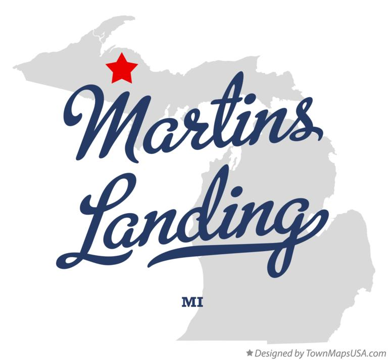 Map of Martins Landing Michigan MI