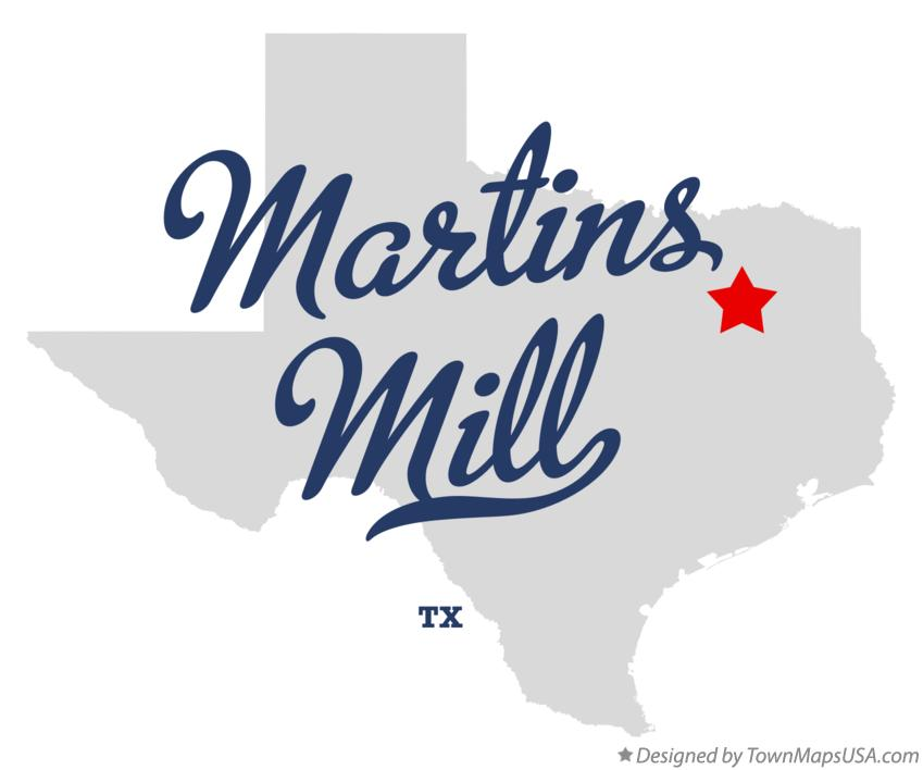 Map of Martins Mill Texas TX