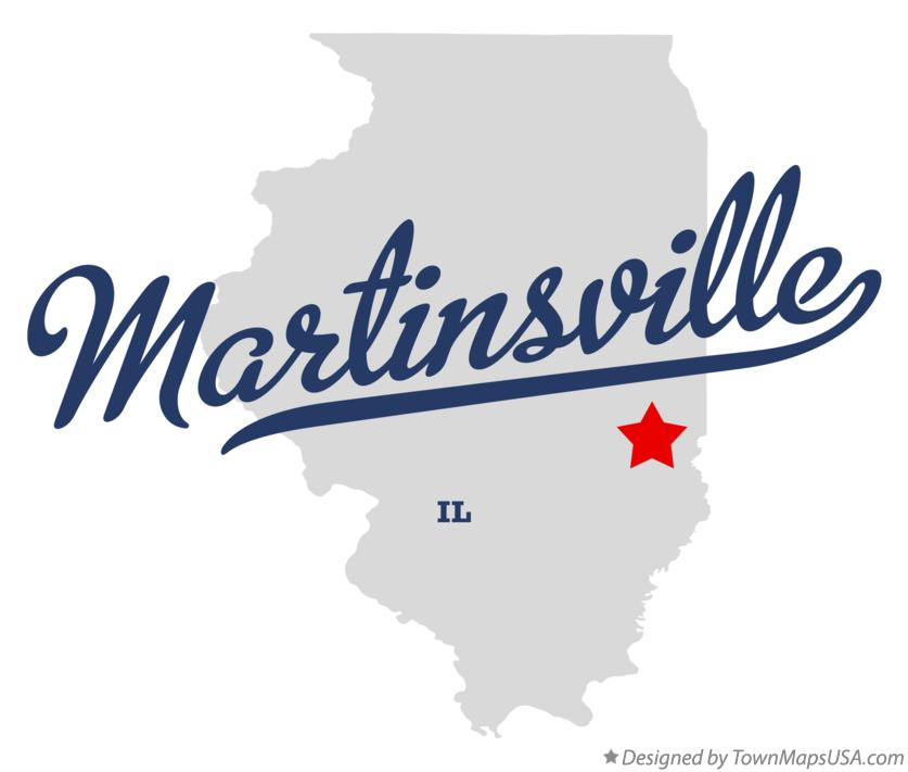 Map of Martinsville Illinois IL