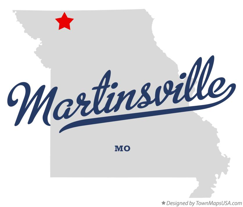 Map of Martinsville Missouri MO