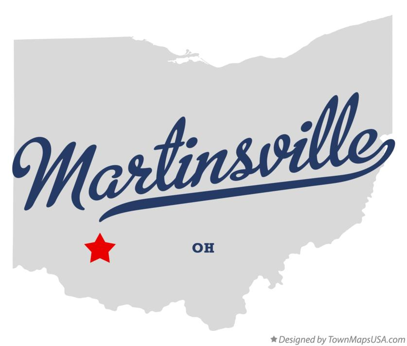 Map of Martinsville Ohio OH