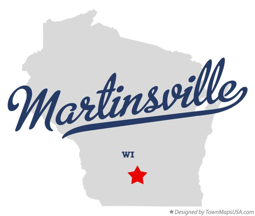 Map of Martinsville Wisconsin WI