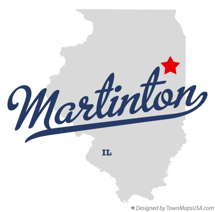 Map of Martinton Illinois IL
