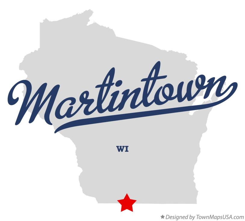 Map of Martintown Wisconsin WI