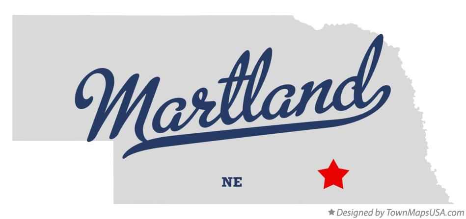 Map of Martland Nebraska NE
