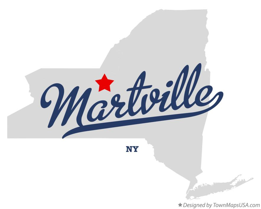 Map of Martville New York NY