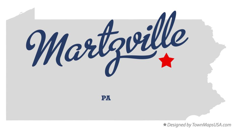 Map of Martzville Pennsylvania PA